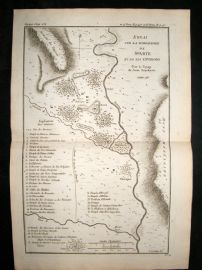 Barthelemy 1790 Antique Map Sparta, Greece